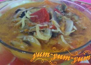 Рецепт солянки на зиму из овощей шампиньонов