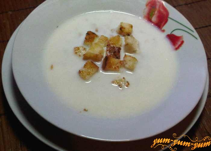 Готовый суп овсяный молочный подаем к столу