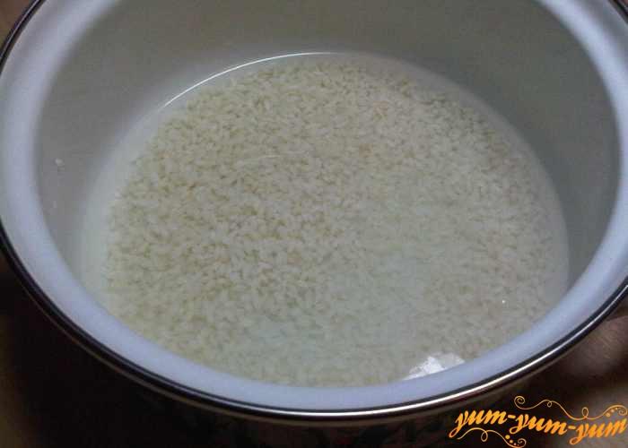 Круглый рис для рассольника без мяса