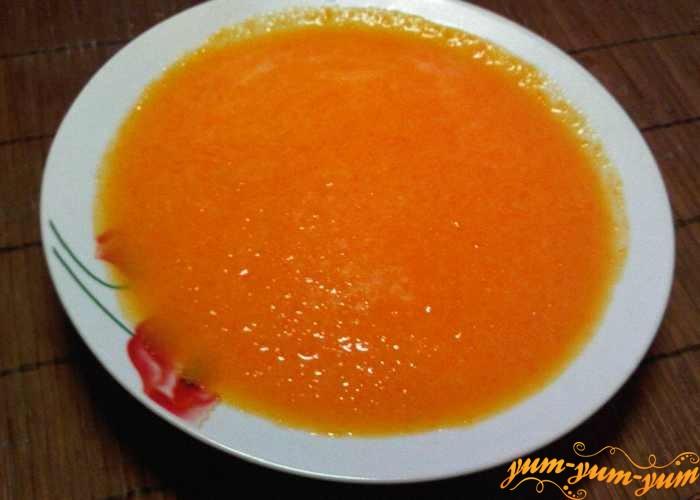 Молочный суп с тыквой подаем к столу