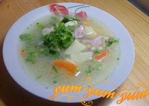 Рецепт горохового супа с грудинкой