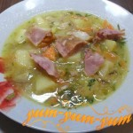 Рецепт горохового супа с копченым окорочком