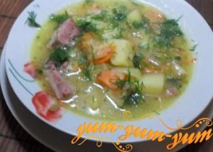 Рецепт горохового супа с рулькой