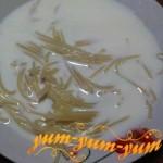 Рецепт молочного супа с вермишелью