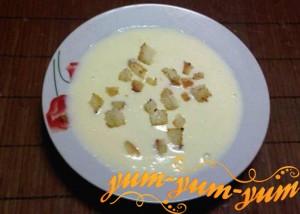 Рецепт молочного супа с яйцом