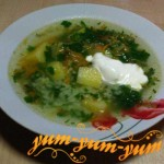 Рецепт рассольника с рисом без мяса