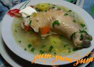Рецепт рассольника с рисом и курицей