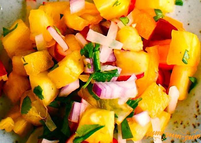 Овощи нарежем небольшими кусочками
