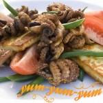 Рецепт фаршированных кальмаров на гриле