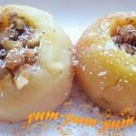 Рецепт печеных яблок с медом и орехами