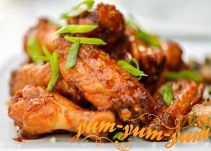 Рецепт приготовления куриных крылышек на мангале