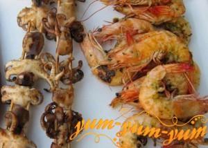 Рецепт шашлыка из морепродуктов