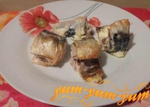 Рецепт скумбрии в духовке под майонезом