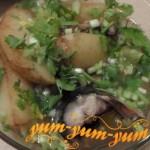 Рецепт скумбрии в горшочке с картофелем