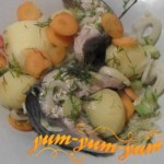 Рецепт скумбрии в пароварке с овощами