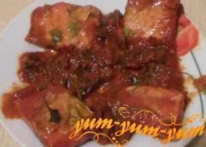Рецепт скумбрии в томатном соусе