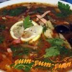 Рецепт супа солянка