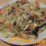 Рецепт овощного рагу из баклажанов, кабачков и капусты