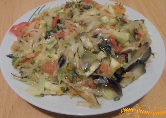 рецепт из кабачков и капусты