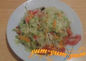Рецепт овощного рагу с кабачками и капустой
