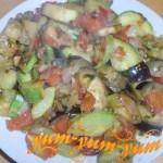 Рецепт рагу из кабачков, баклажанов, помидоров