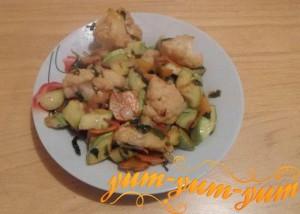 Рецепт рагу из кабачков с цветной капустой