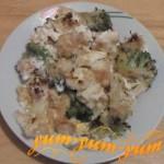 Рецепт цветной капусты с брокколи в духовке