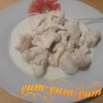 Рецепт цветной капусты со сливками