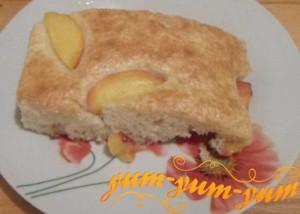 Рецепт приготовления шарлотки с персиками