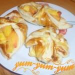 Рецепт слоек с персиками