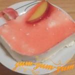Рецепт творожного торта с персиками