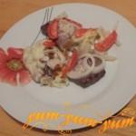 Как приготовить картошку с помидорами и мясом в духовке