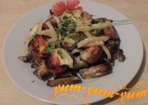 Как приготовить салат из шампиньонов и помидоров