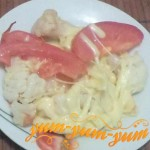 Приготовление цветной капусты с сыром