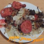 Приготовление картошки с помидорами и фаршем