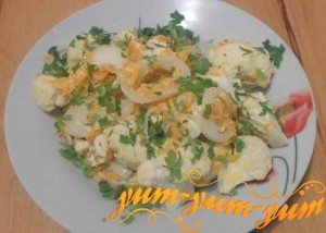 Приготовление тушеной цветной капусты с курицей