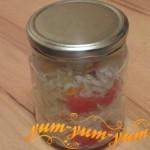 Рецепт консервированных помидоров с капустой