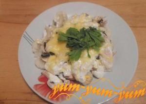 Рецепт курицы запеченной с цветной капустой
