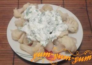 Рецепт приготовления цветной капусты в сливочном соусе