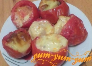 Рецепт приготовления помидоров фаршированных курицей