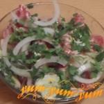Рецепт приготовления салата из помидоров огурцов и редиса