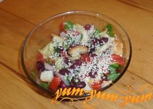 Рецепт приготовления салата с фасолью и помидорами
