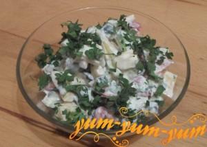 Рецепт приготовления салата с помидорами, огурцами и перцем