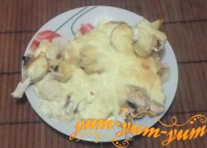 Рецепт приготовления запеканки из грибов и цветной капусты
