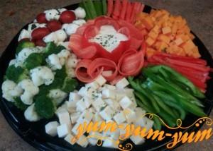 Салат из вареной цветной капусты