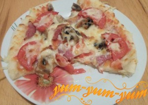 Как приготовить пиццу с грибами и помидорами