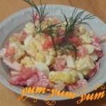 Как приготовить салат из копченой курицы и кукурузы