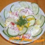 Как приготовить салат из кукурузы, помидоров и огурцов