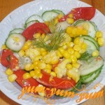 Как приготовить салат со свежей кукурузой