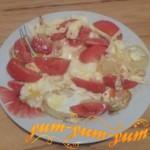 Как сделать яичницу с помидорами